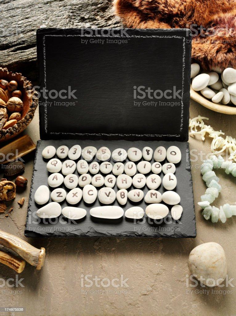 Slate Prehistoric Computer stock photo