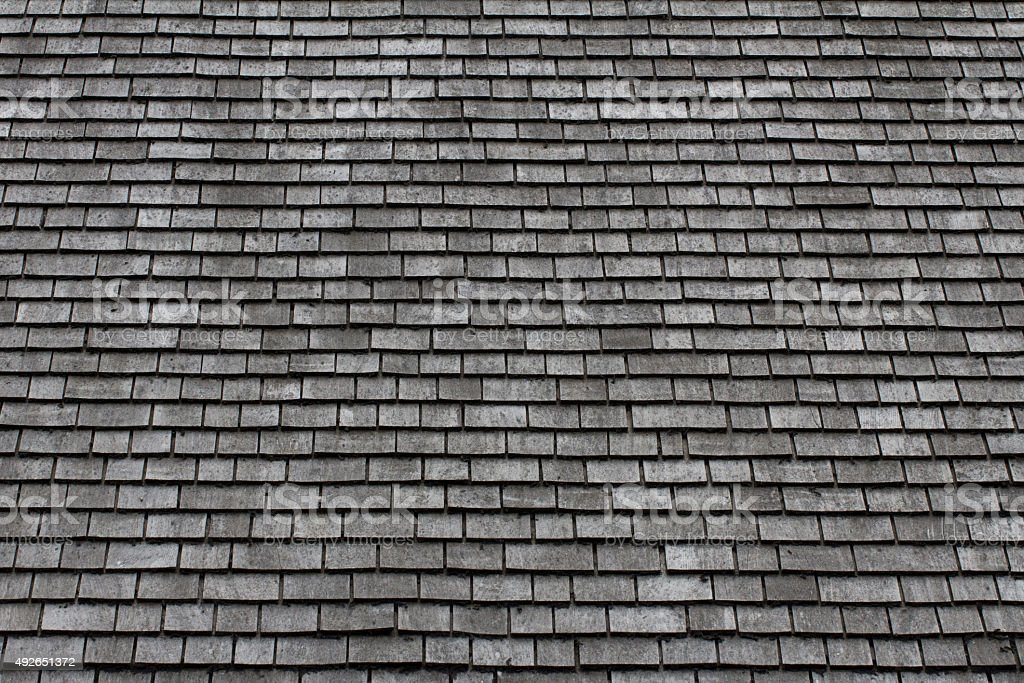 Slate Roof Background stock photo