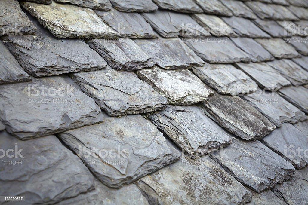 Slate Roof stock photo