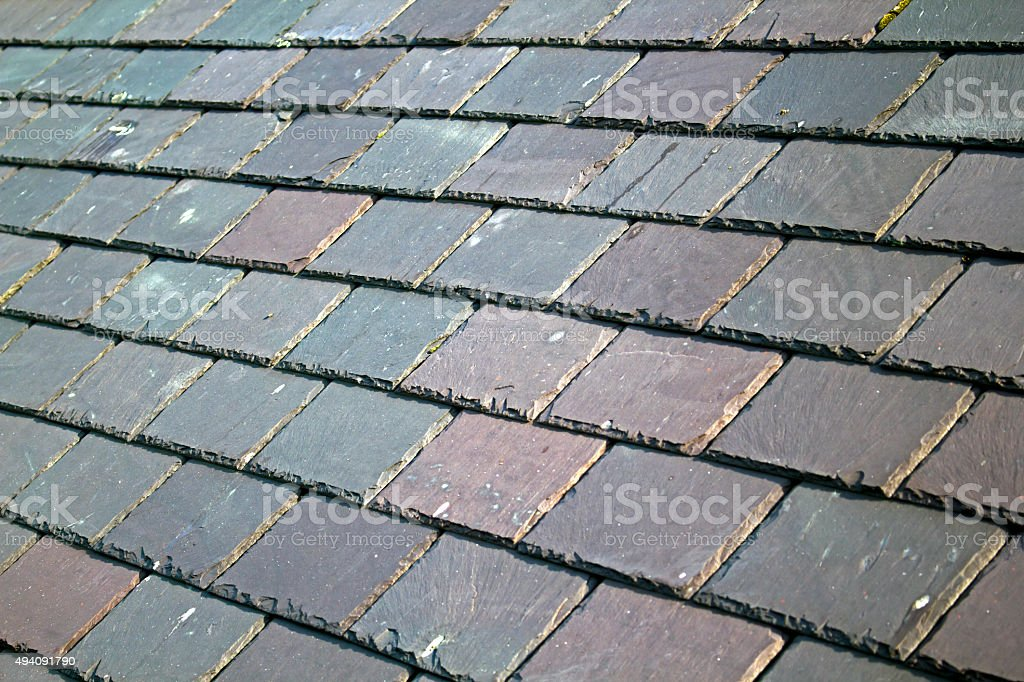 Slate Roof stock photo