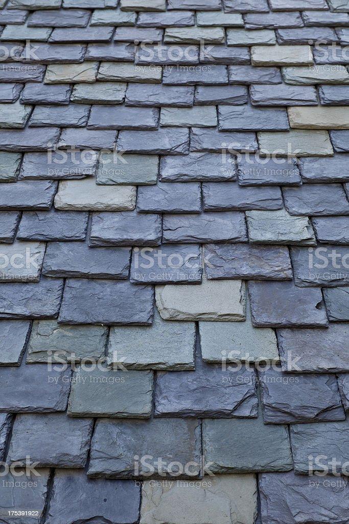 Slate Roof Shingle Pattern stock photo