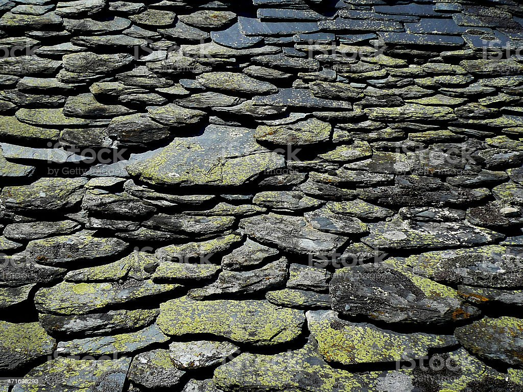 Slate Roof - Tejado de Pizarra stock photo