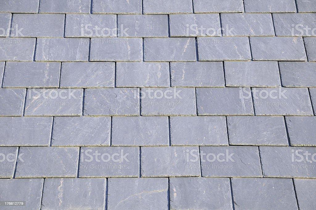 Slate Roof Tiles stock photo