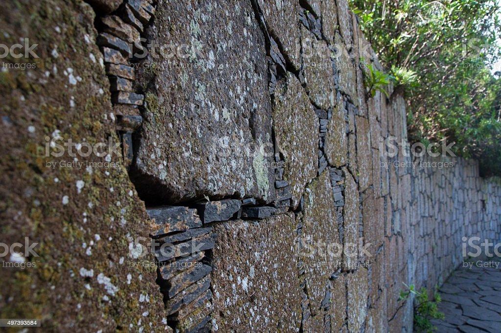 Slate & Stone Wall stock photo