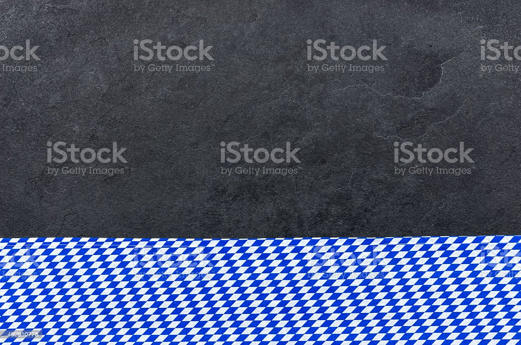 Slate with a bavarian diamond pattern stock photo