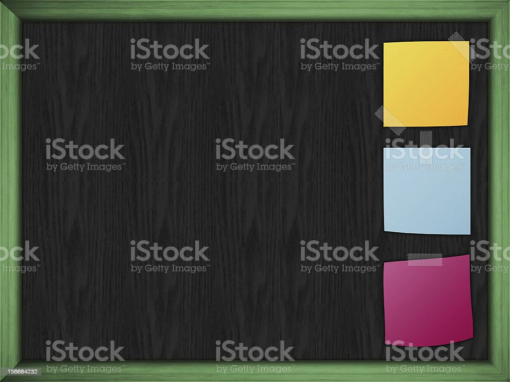 Slate with posit royalty-free stock photo