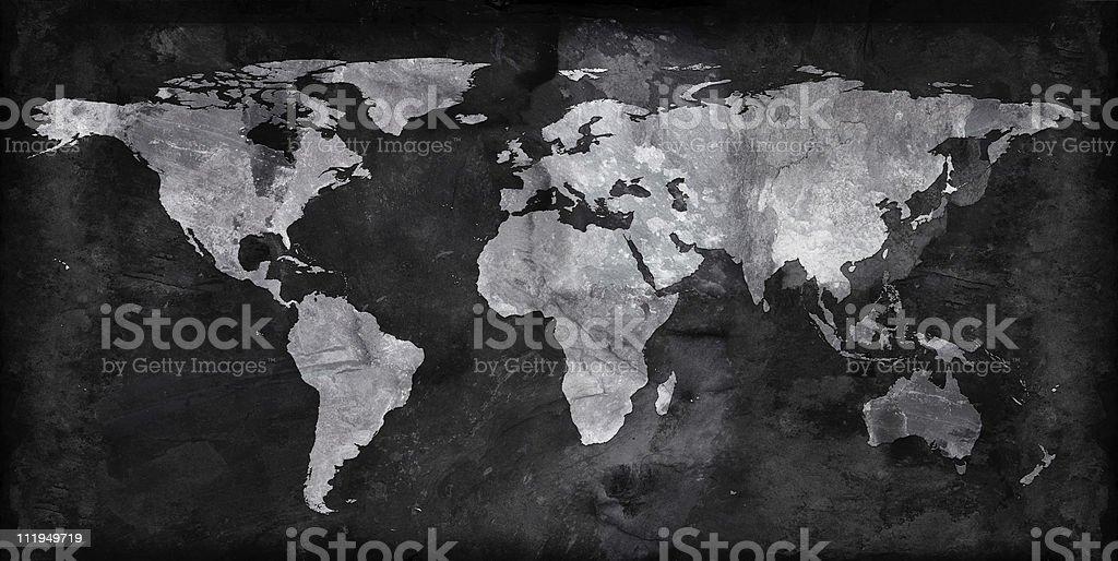 Slate world map stock photo