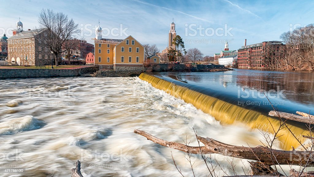 Slater's Mill Historic Site, Pawtucket, RI stock photo