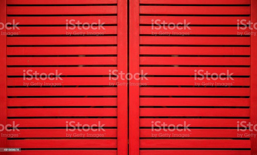 Slatted Shutter stock photo