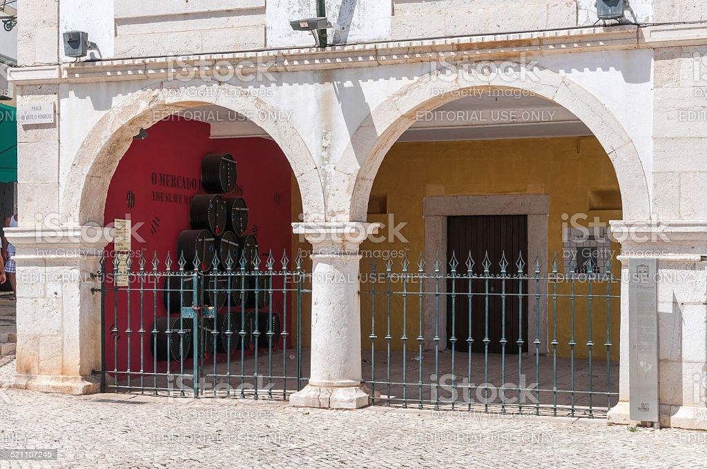 Slave market building in Lagos, Portugal stock photo