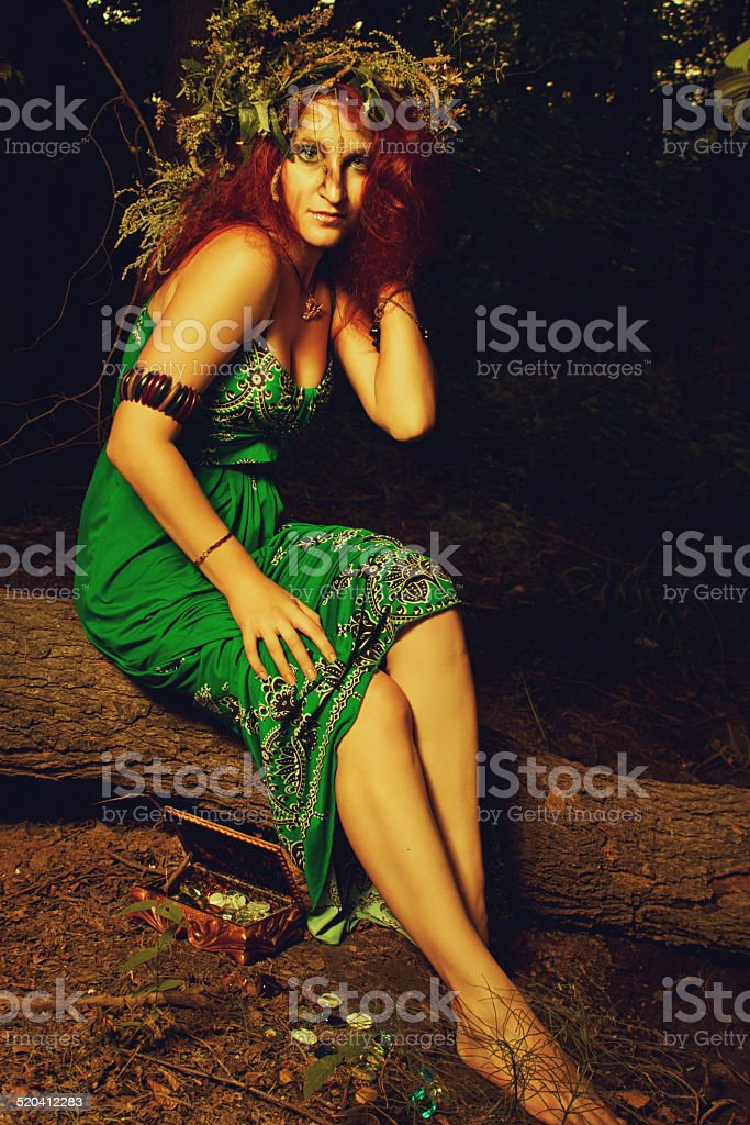 Slavonic witch stock photo