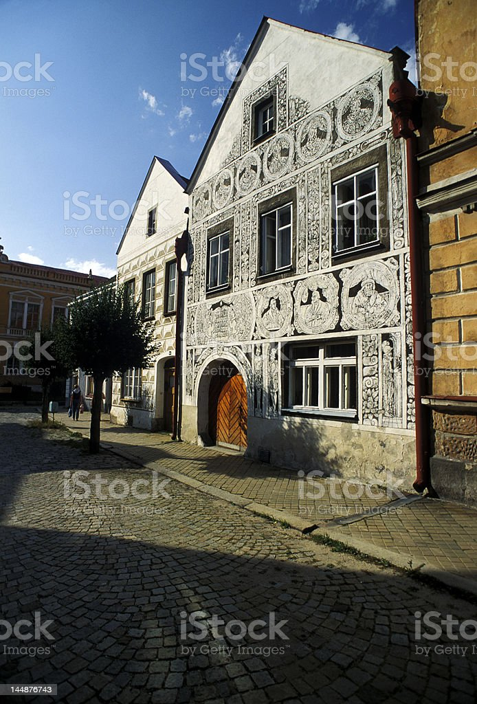 Slavonice house royalty-free stock photo