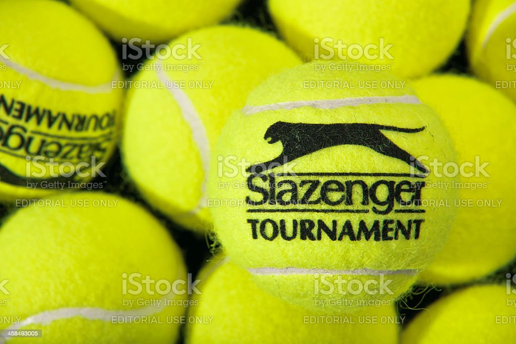 Slazenger Tournament Tennis Balls stock photo