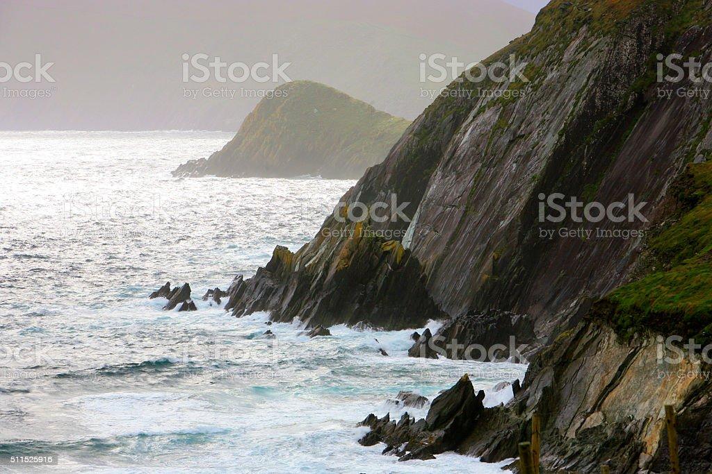 Slea Head cliffs - Ireland stock photo