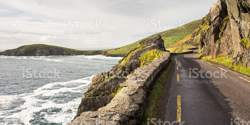 Slea Head road stock photo