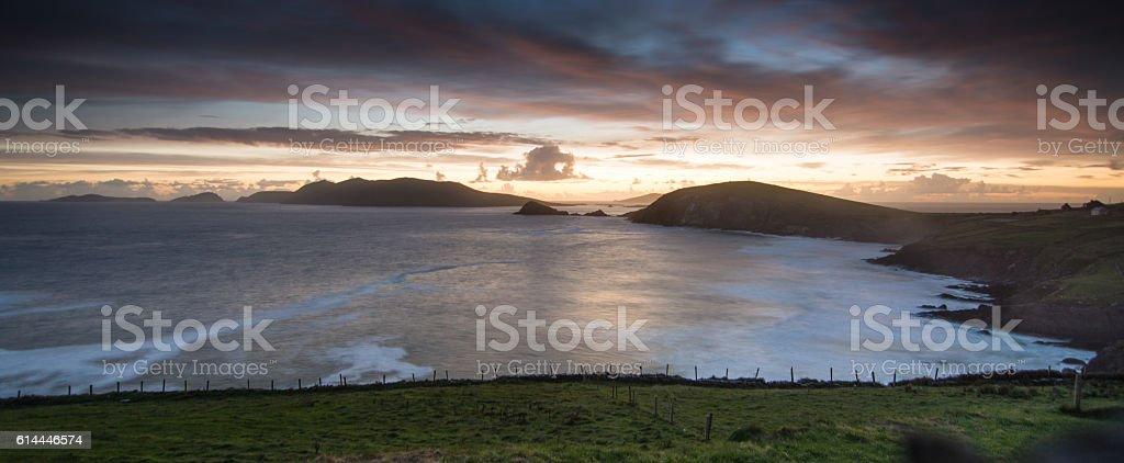 Slea Head sunset stock photo