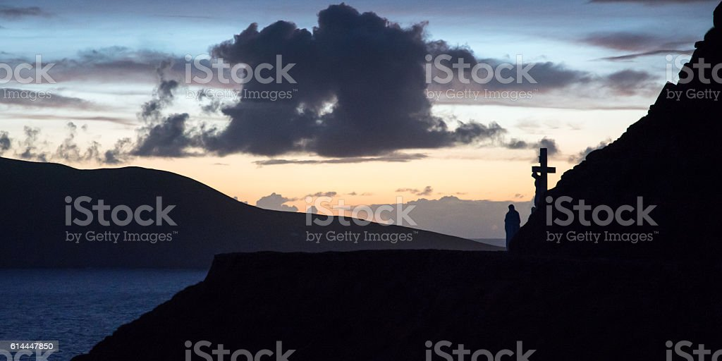 Slea Head sunset stock photo