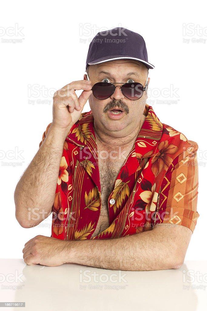 Sleazy Man stock photo