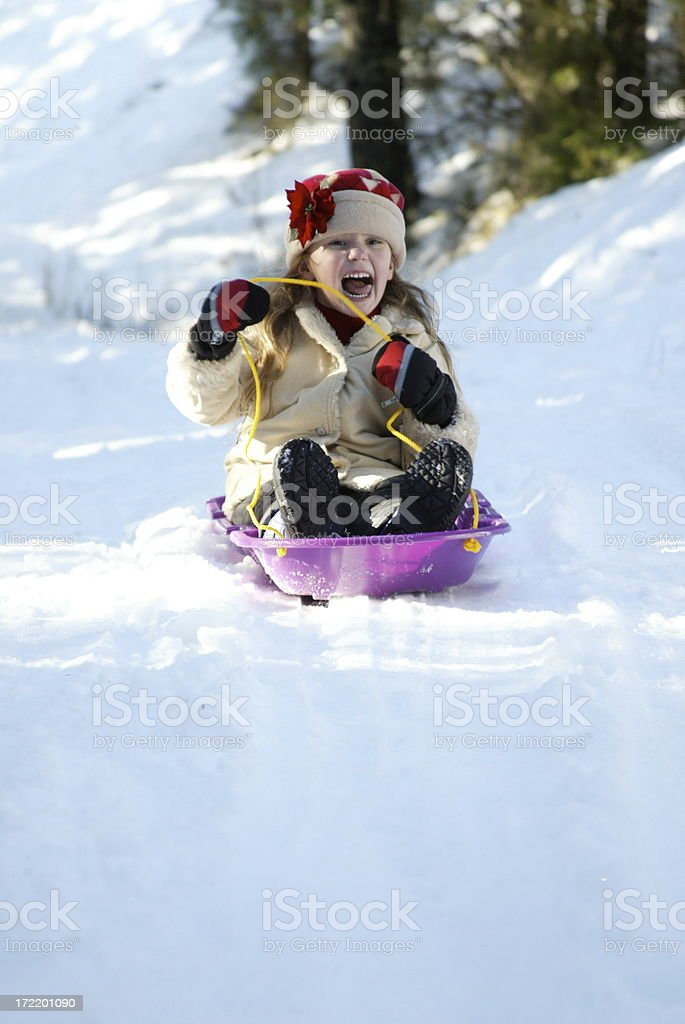 Sled Girl 0098 royalty-free stock photo