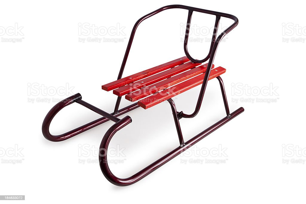 Sled. royalty-free stock photo