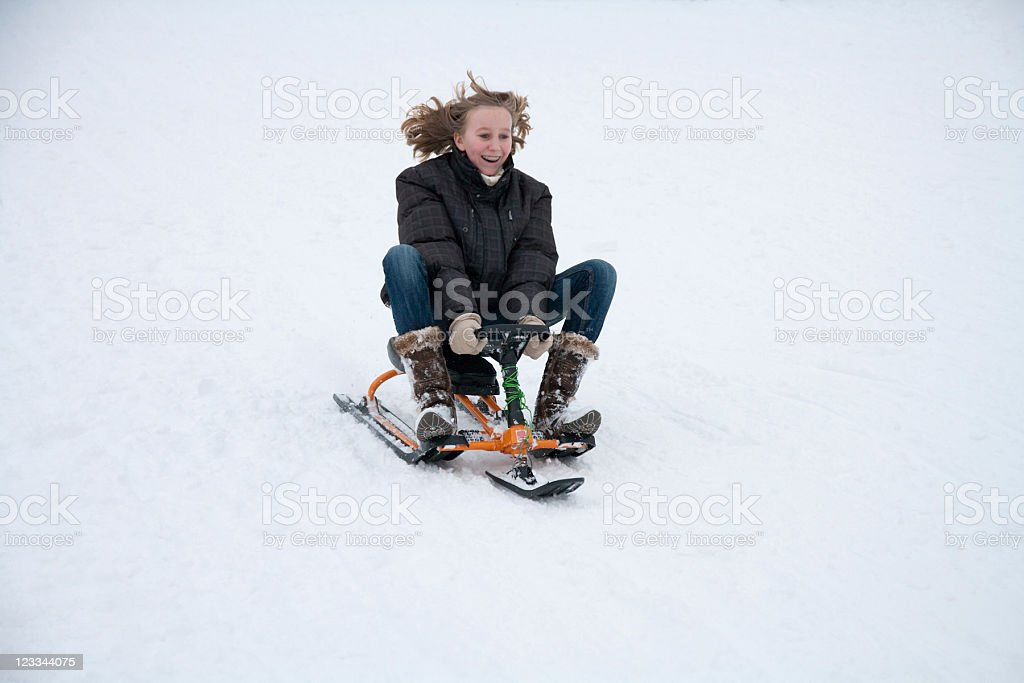 Sled Racing royalty-free stock photo