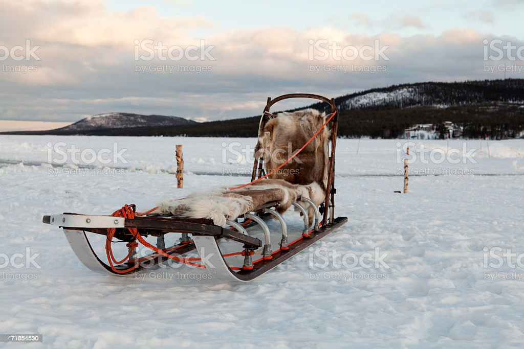 Sledge for dog race royalty-free stock photo