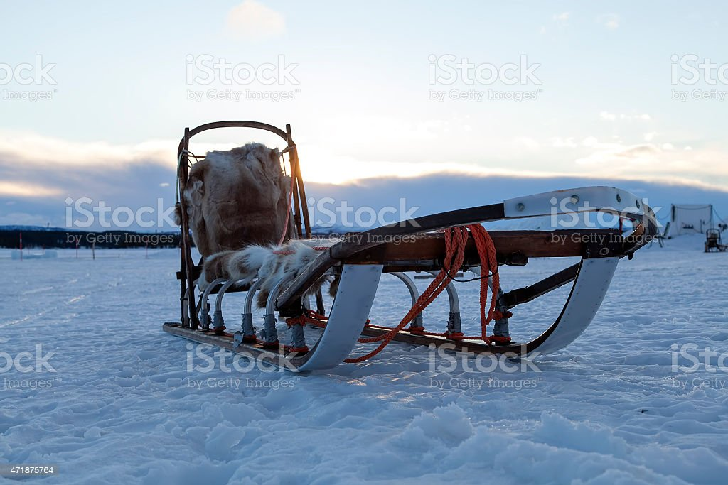 Sledge for speed royalty-free stock photo