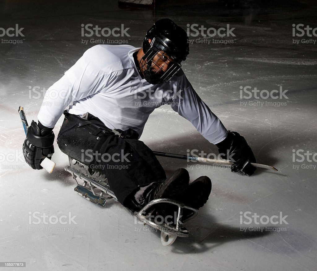 Sledge Hockey Player royalty-free stock photo