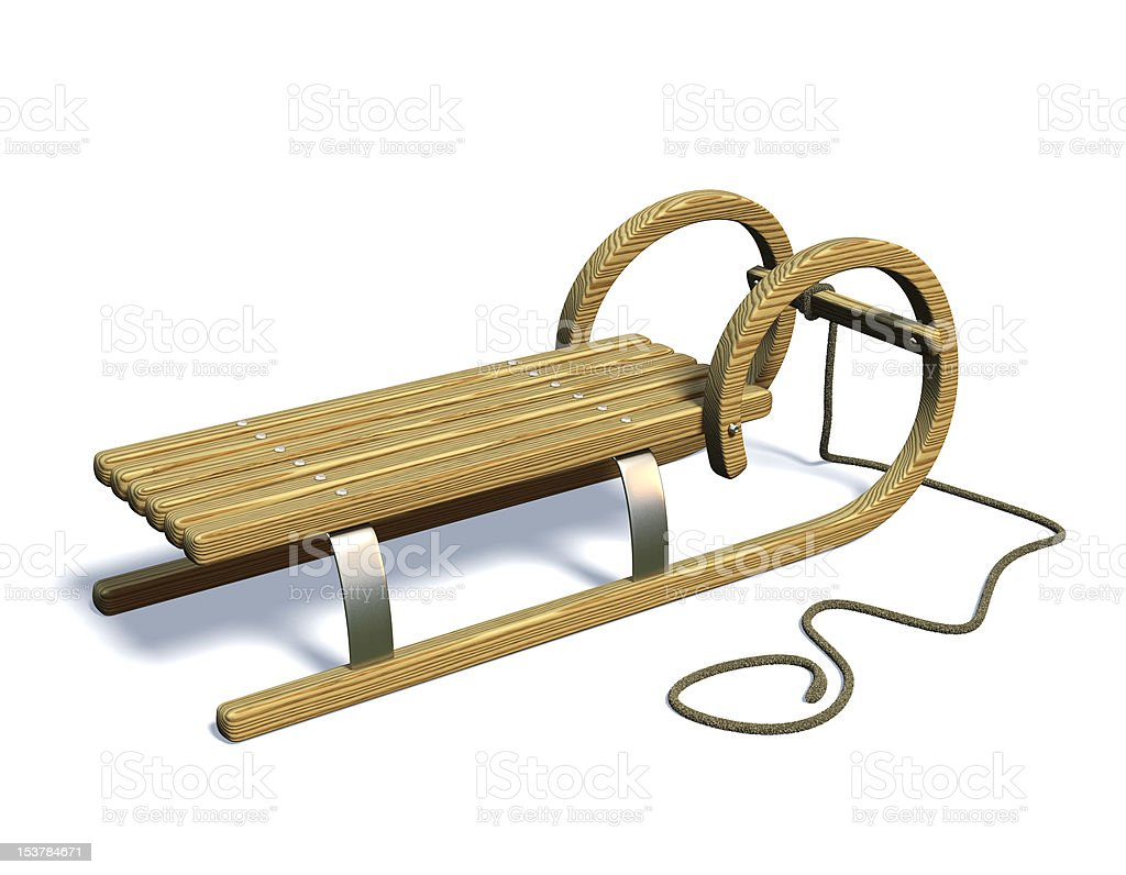 Sledge in winter. royalty-free stock photo