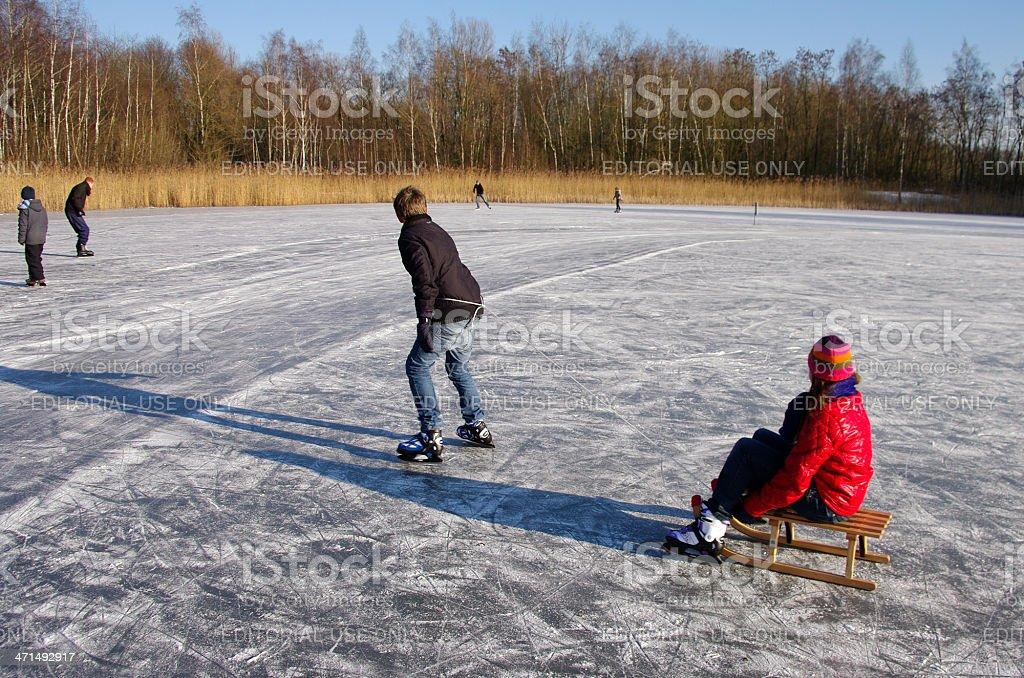 Sledge on ice royalty-free stock photo