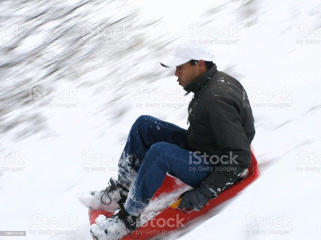 sledge royalty-free stock photo