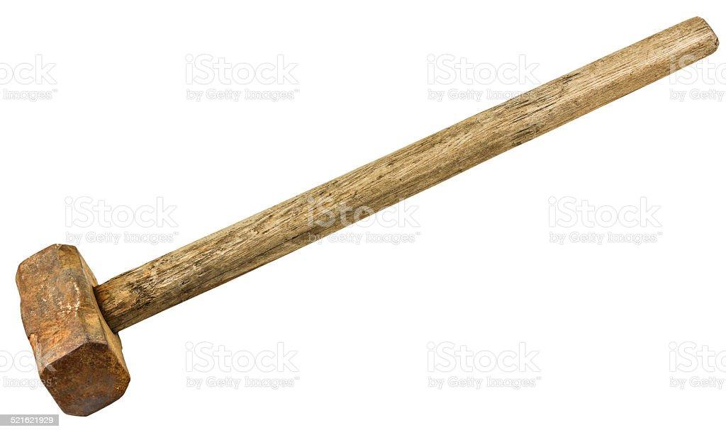 sledgehammer isolated on white background stock photo