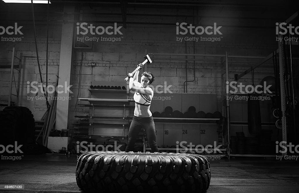 Sledgehammer work stock photo