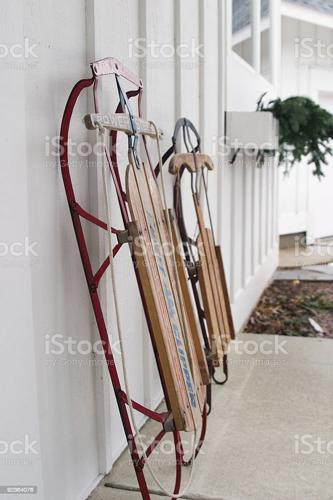 Sleds Ready for Action royalty-free stock photo