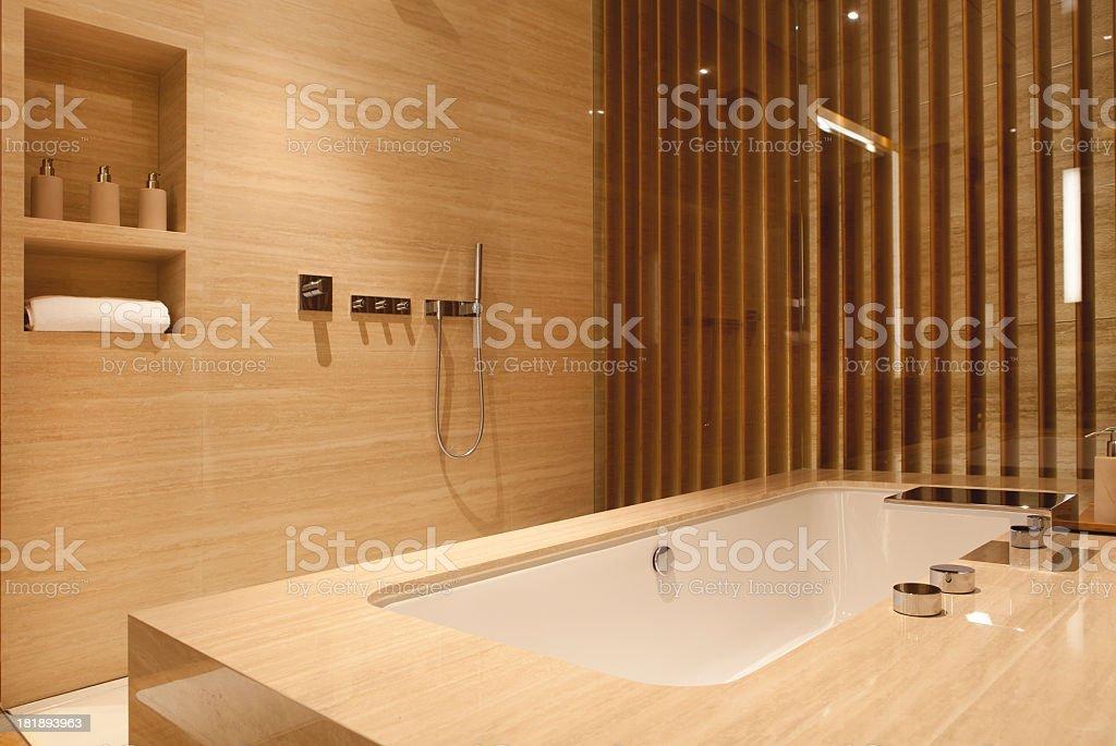 Sleek Modern Bath royalty-free stock photo