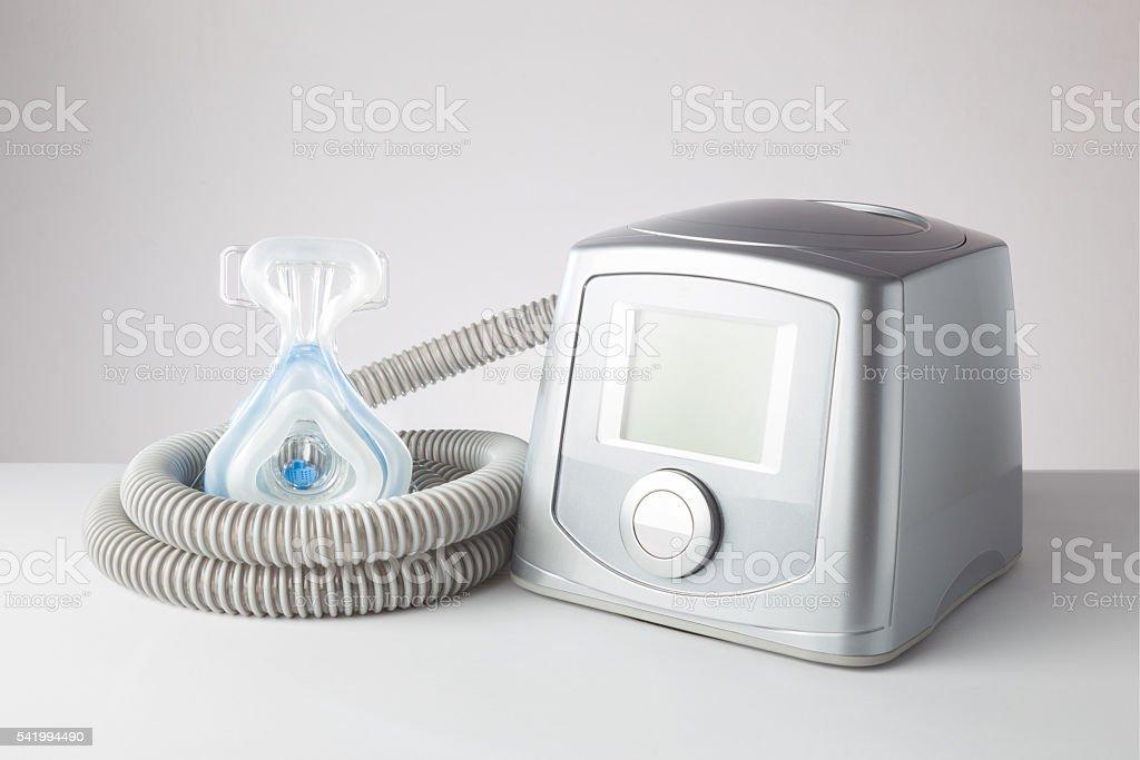 Sleep Apnea CPAP machine stock photo