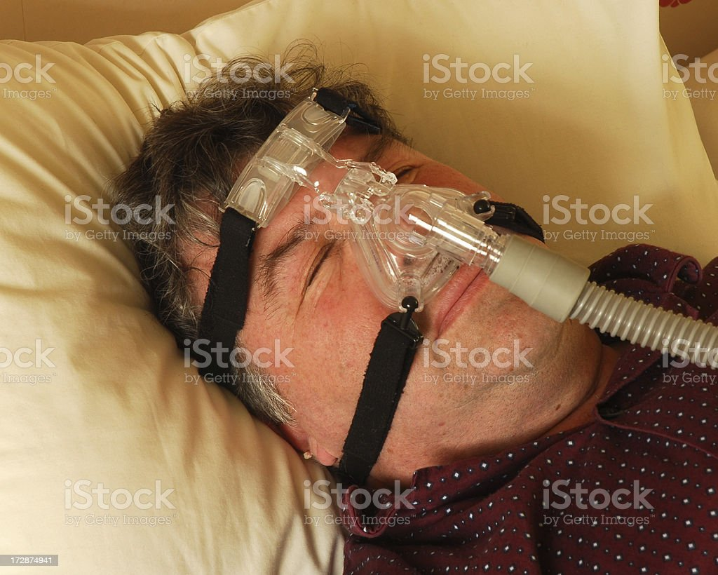 Sleep Apnoea royalty-free stock photo