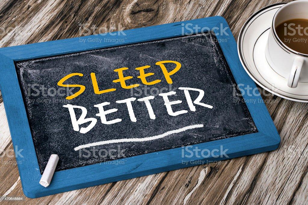 sleep better concept stock photo
