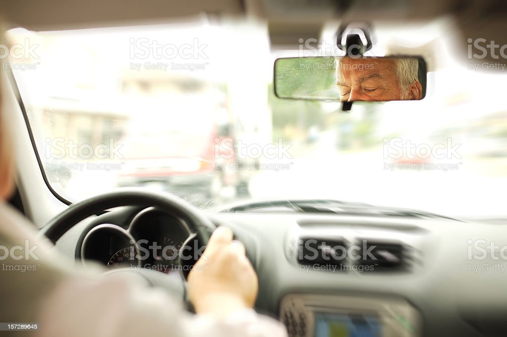 Sleep driving royalty-free stock photo
