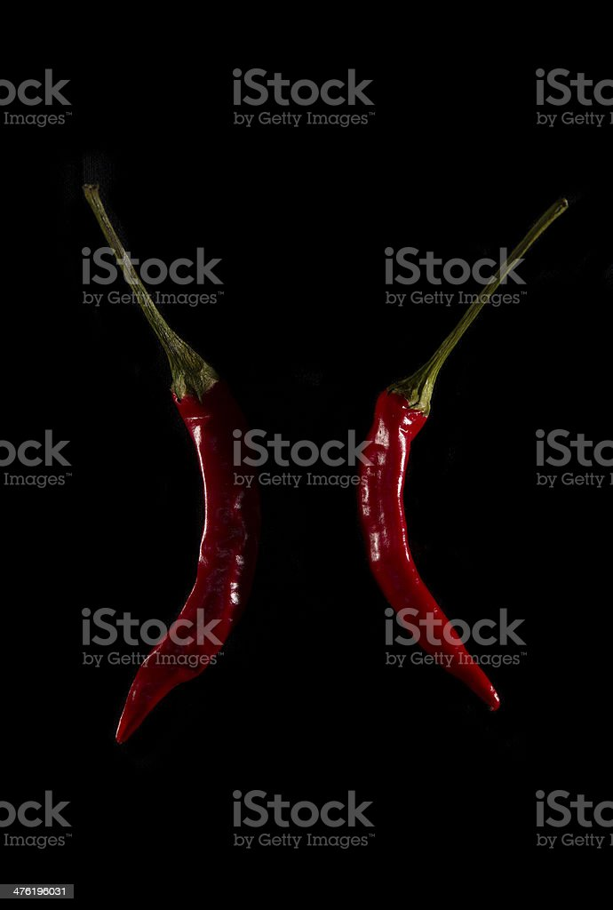Sleepers peppers royalty-free stock photo