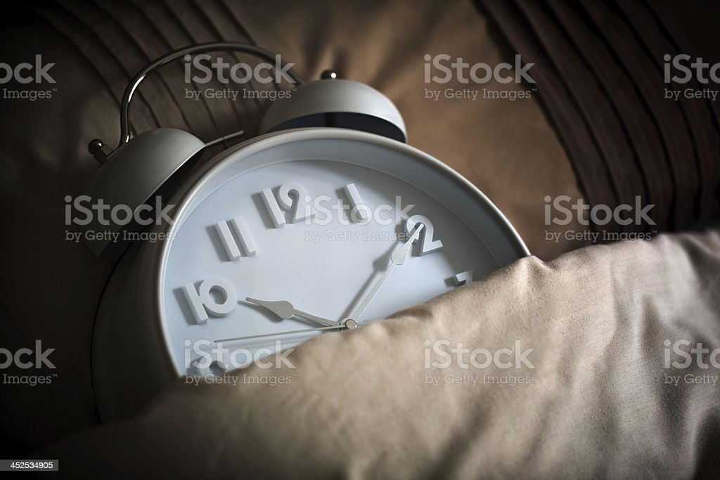 Sleeping alarm clock stock photo