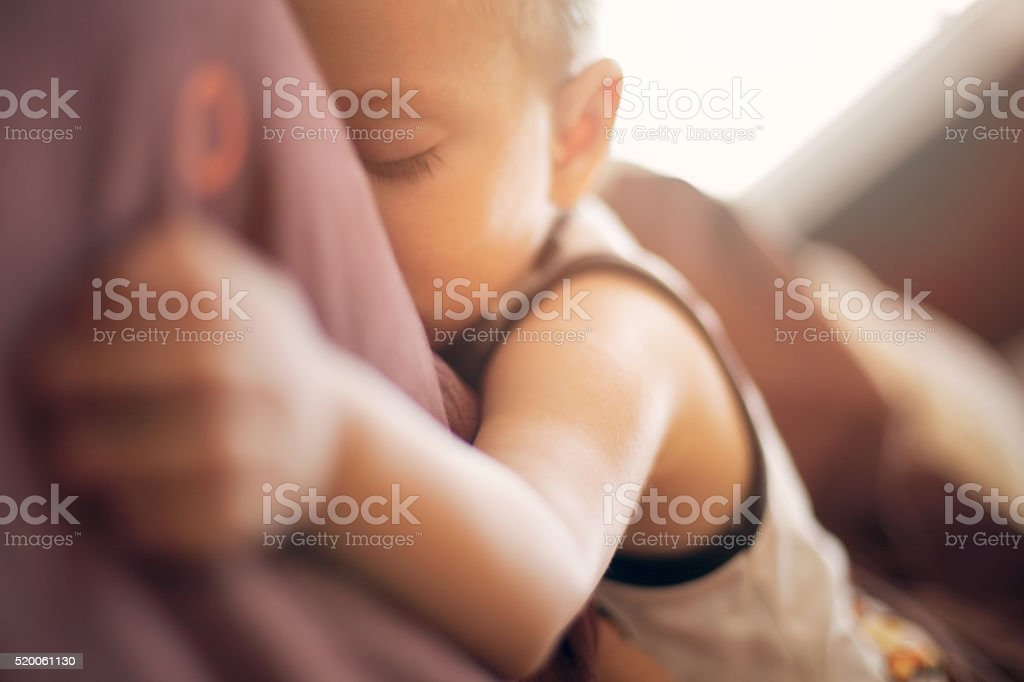 Sleeping and dreaming stock photo