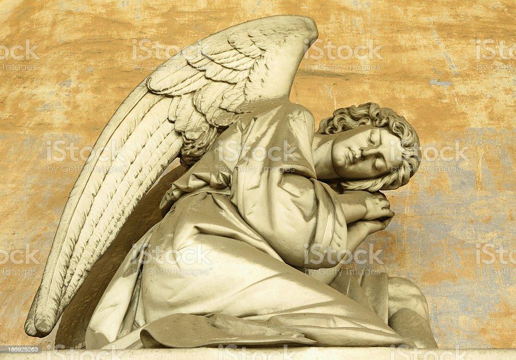 sleeping angel statue royalty-free stock photo