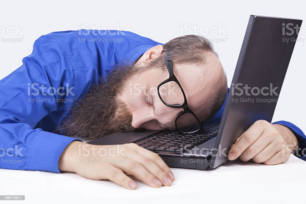 Sleeping At Work - businessman (Series) royalty-free stock photo