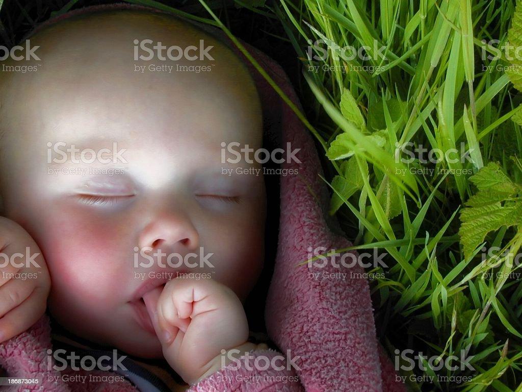Sleeping baby 3 stock photo