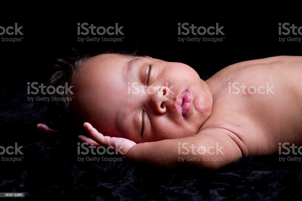 Sleeping Baby Boy royalty-free stock photo