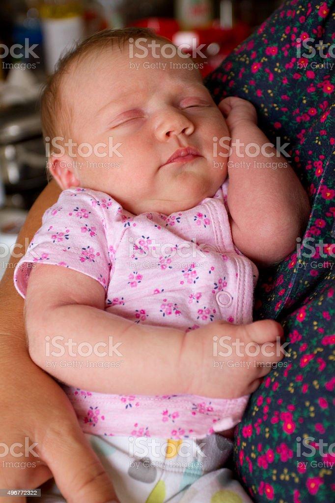 Ragazza bambino dormire foto stock royalty-free