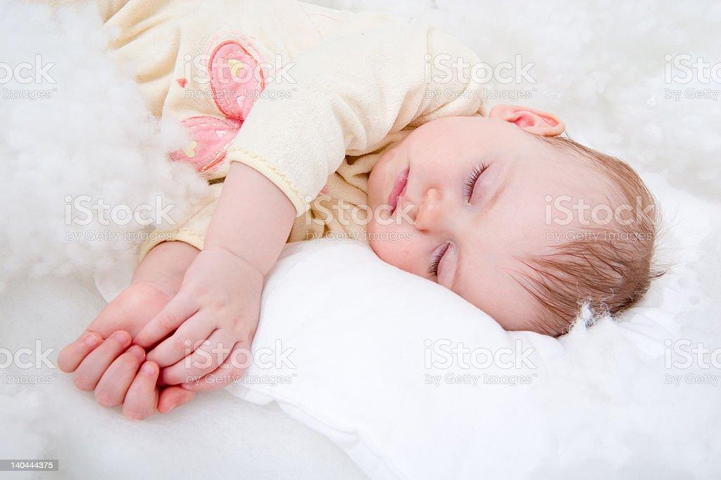 sleeping baby royalty-free stock photo