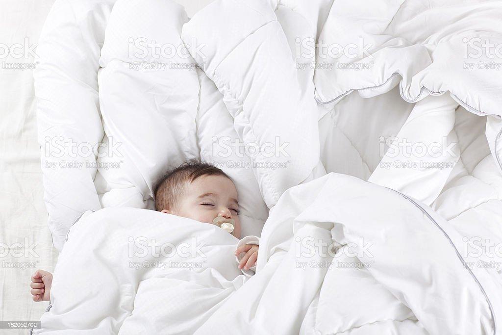 Sleeping baby. royalty-free stock photo