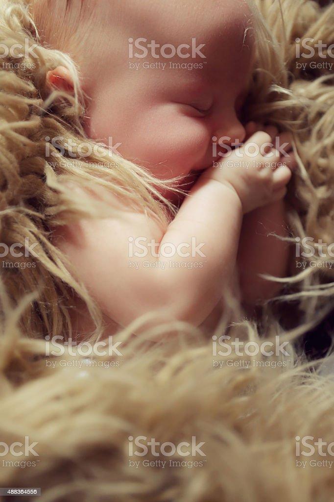 Schlafen baby Lizenzfreies stock-foto